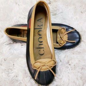 Chooka 7 Women's Low Rain Duck Flat Shoes